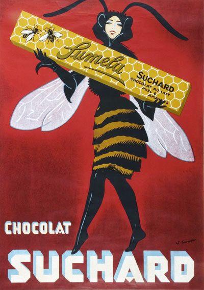 Swiss Chocolat Suchard ad, 1890s-1920s