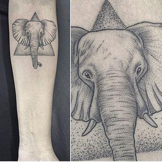Este retrato. | 21 tatuagens incríveis de elefantes para te inspirar