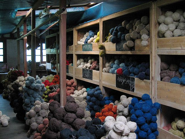 Colours of Wool Wool for carpetmaking in the Tibetan refugee centre in Darjeeling, India.