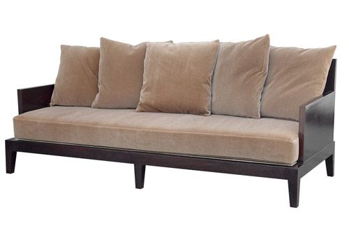 Wooden Frame Sofa With Cushions Lloyd Lodge Taupe Tufted