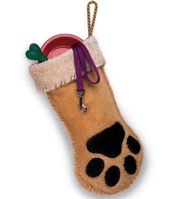Daily DIY Pet Pattern - Make A Dog Paw Christmas Stocking