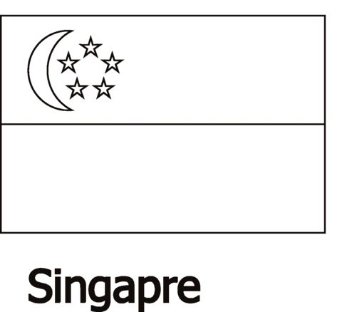 Singapore Flag Coloring Page Flag Coloring Pages Coloring Pages