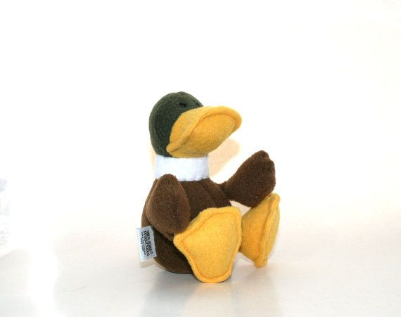 Stuffed Baby Mallard Duck Small Duckling Plush  by SaintAngel, $25.00