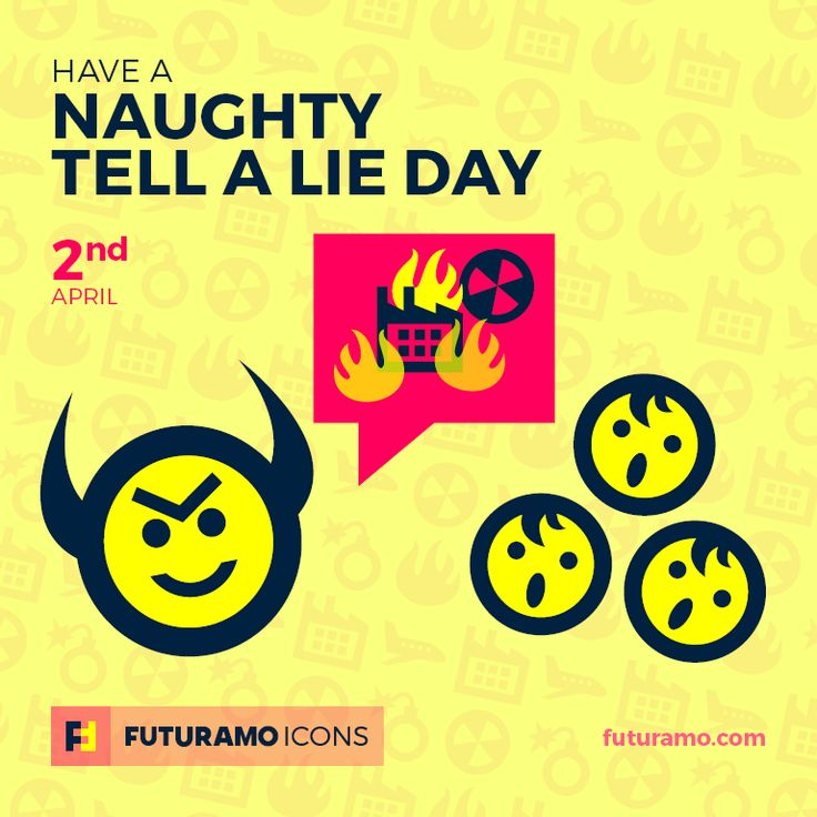 Have a naughty Tell A Lie Day! Check out our FUTURAMO ICONS – a perfect tool for designers & developers on futuramo.com