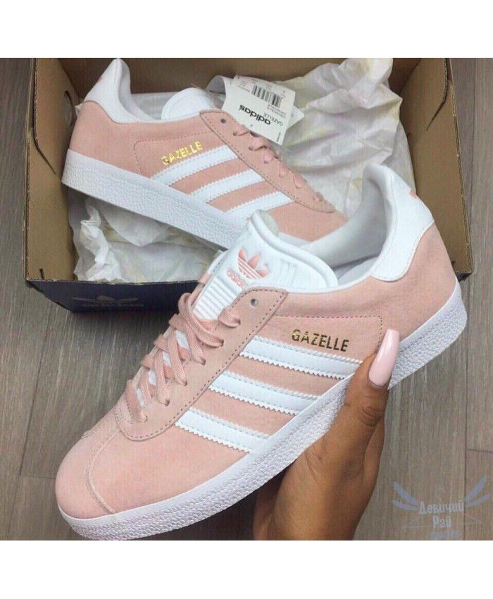 best loved a5ea3 92287 Adidas Gazelle Womens Pink White Shoes