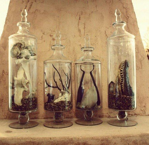 sistersoftheblackmoon:    Oddity jars by Antonio Bond for our Booth at Renegade Moon.