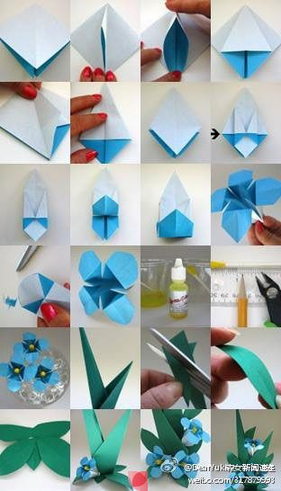 Origami flowers. Repiny - Most inspiring pictures and photos!