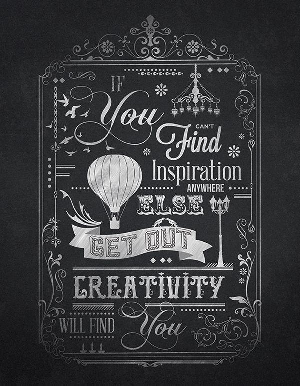 chalkboard design typography graphic