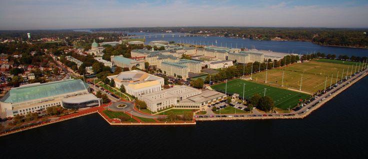 Annapolis, Maryland, US Naval Academy campus.