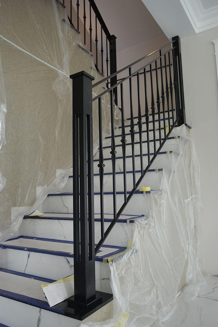 Balustrada wewn�trzna, stal czarna lakierowana proszkowo � stylowa, �yrard�w
