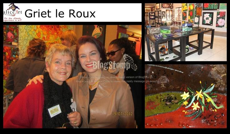 Griet le Roux; Glasbakke, juwele en interessante ontwerpe!