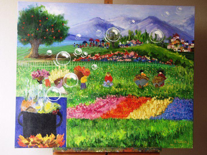pintura para niños....... solo mi imaginación y mi amor por el color