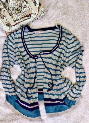 Kup mój przedmiot na #vintedpl http://www.vinted.pl/damska-odziez/kardigany/18003260-orsay-sliczny-morski-letni-sweterek-kardigan-roz-m