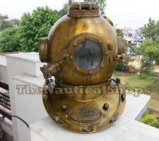 Scuba US Navy Vintage Dive Helmet Mark V Antique Diving Divers Helmet Full Size