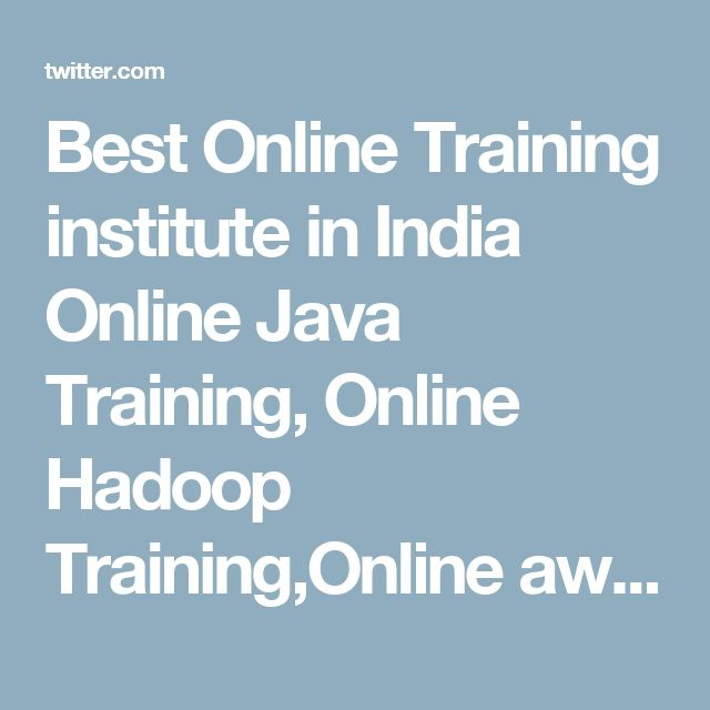 Best Online Training institute in India  Online Java Training, Online Hadoop Training,Online aws training
