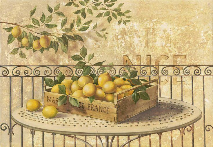 Cheap limone sul tavolo frutta still life pittura a olio - Disegni per cucina ...