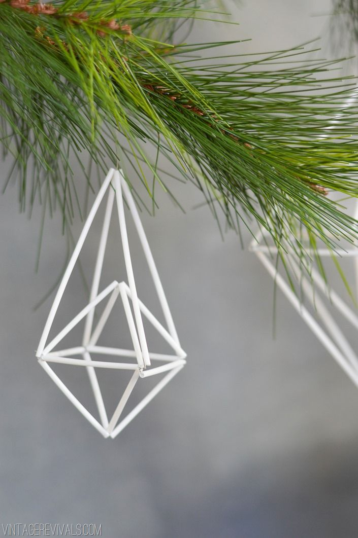 Vintage Revivals | How To Make A Basic Geometric Himmeli Ornament
