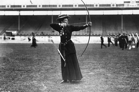 Beatrice Hill-Lowe was the bronze medal winner in women's archery at the Olympics in 1908. Classy.