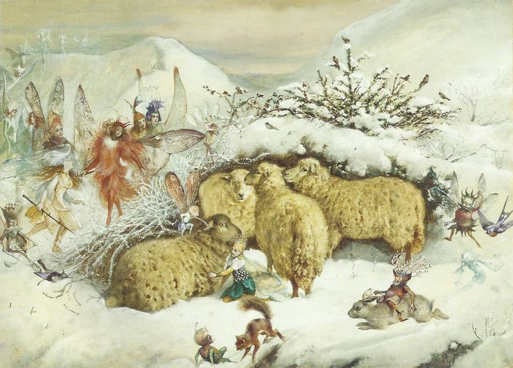 John Anster Fitzgerald - Fairies In the Snow