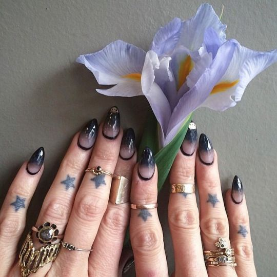 Love the nails except for the black line at the base of the nail