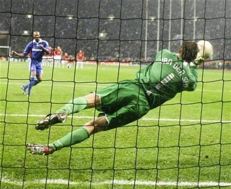 What a save from Van der Sar! Manchester United 2008 Champions League Final