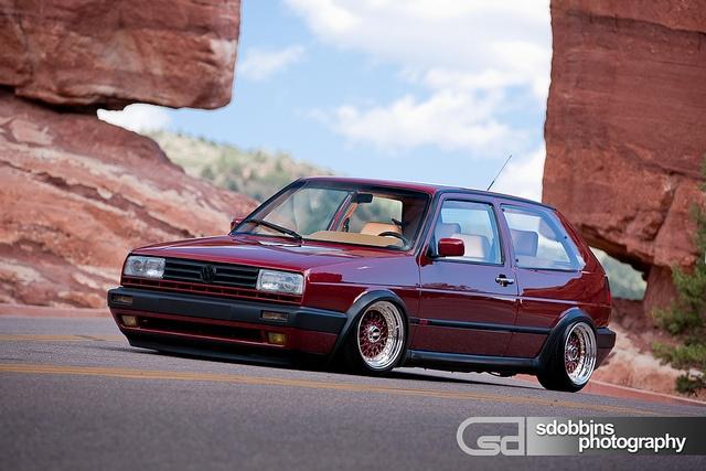 Came across a Samuel Dobbins post on pinterest. Mk2 VW GTI VR6 on BBS RS' - 7056
