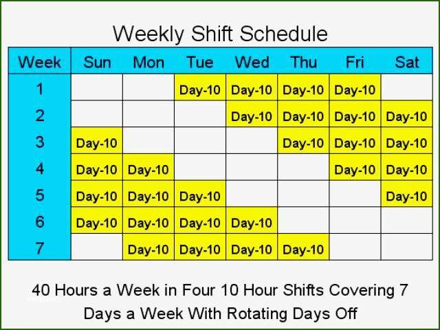13 Foolproof 4 10 Hour Days Schedule Template Shift Schedule Schedule Template Nursing Schedule