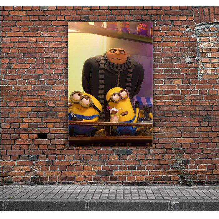 DESPICABLE ME GRU AND MINIONS ARTWORK POSTERS