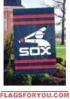 "White Sox Retro Applique Banner Flag 44"" x 28"""