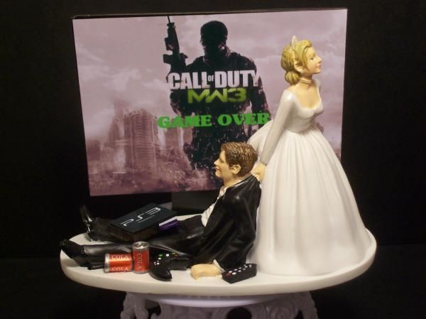 """Funny Grooms Cakes   ... GAME """"MODERN WARFARE 3"""" MW3 FUNNY WEDDING CAKE TOPPER or Grooms Cake"""