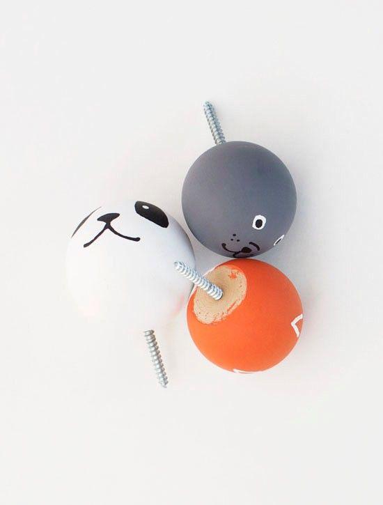 DIY: Animal Knobs