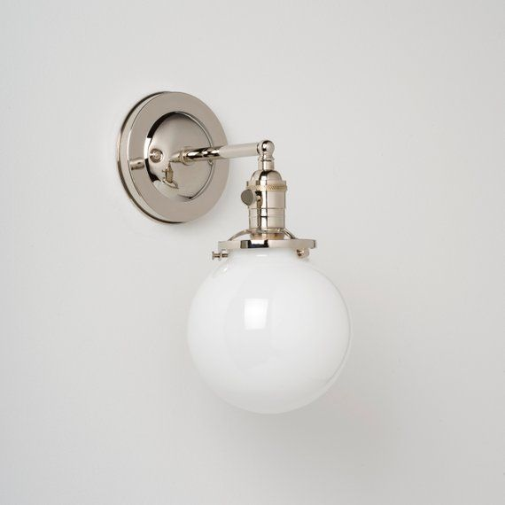 Globe Wall Sconce Light Fixture
