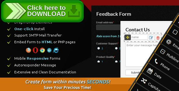[ThemeForest]Free nulled download Hello Form Builder - Contact Form from http://zippyfile.download/f.php?id=45187 Tags: ecommerce, ajax contact form, ajax form, captcha, contact, contact form, contact form builder, contact form generator, form, form builder, form generator, form maker, php contact form, php form, smtp mail