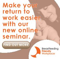 "Can you return to work and still breastfeed? From the Australian Breastfeeding Association. Includes a link to a ""Breastfeeding and Returning to Work"" webinar. #breastfeeding #IBCLC"