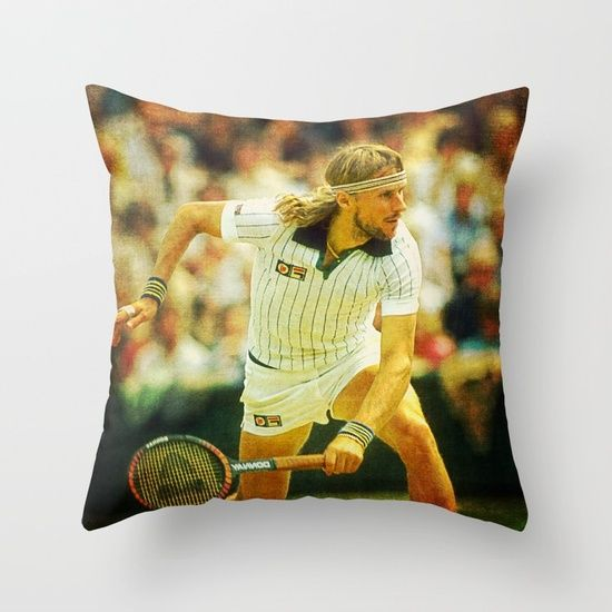 Bjorn Borg Tennis Throw Pillow