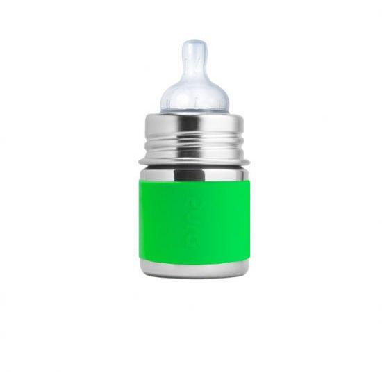 Stainless Steel Infant Bottle (Green Sleeve) 5 oz.