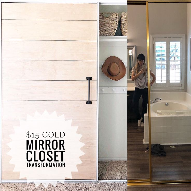How To Transform Your Old Gold Mirror Closet Doors For 15