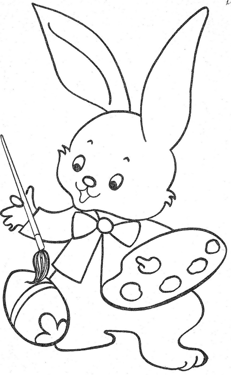 Color book rabbit - Things To Color