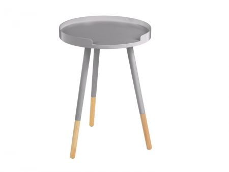 Viborg Round Grey Side Table