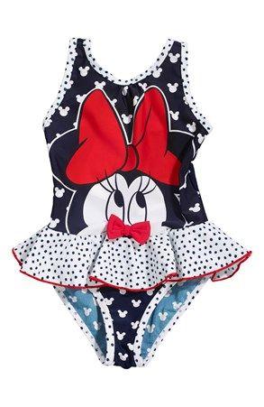 Super seje Disney Minnie Mouse Badedragt Marine Disney Minnie Mouse  til Børn & teenager til hverdag og til fest