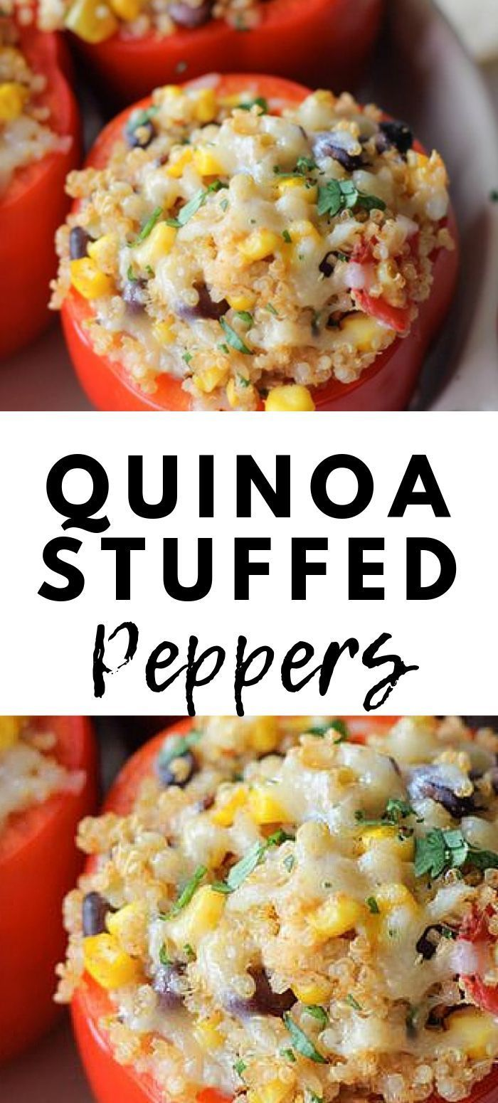 Quinoa Stuffed Peppers Recipe Gluten Free Vegetarian Wendy Polisi Recipe In 2020 Quinoa Recipes Easy Stuffed Peppers Vegetarian Quinoa