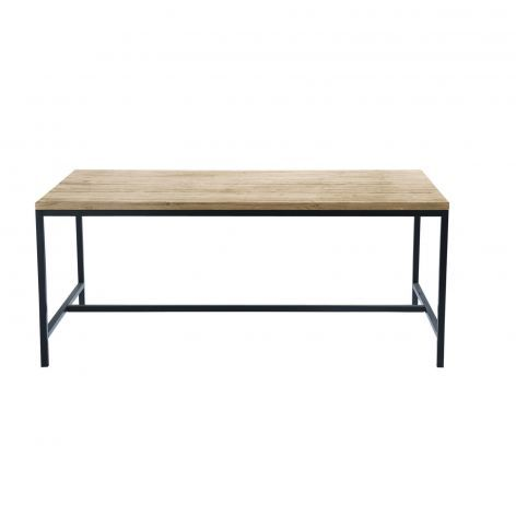 5195af8f675f LONG ISLAND - Solid Fir and Metal 6/8-Seater Industrial Dining Table ...