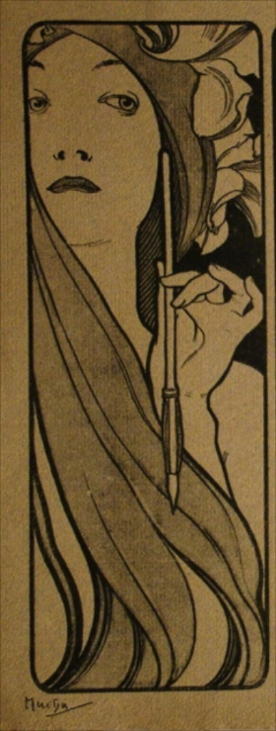 Alphonse Mucha (Czech, 1860-1939). The Artist.