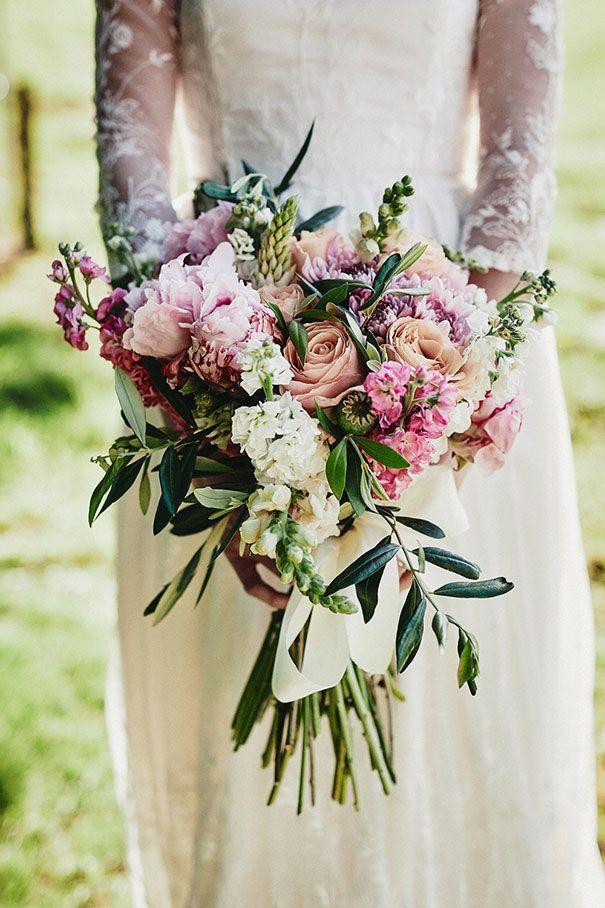Pretty pastel bridal bouquet