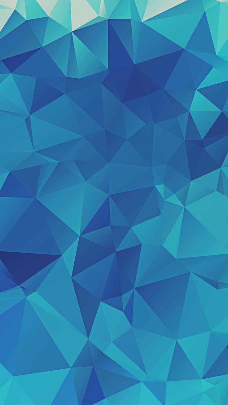 Iphone wallpaper tumblr mandala - Low Poly Blue Triangles Iphone 6 Hd Wallpaper