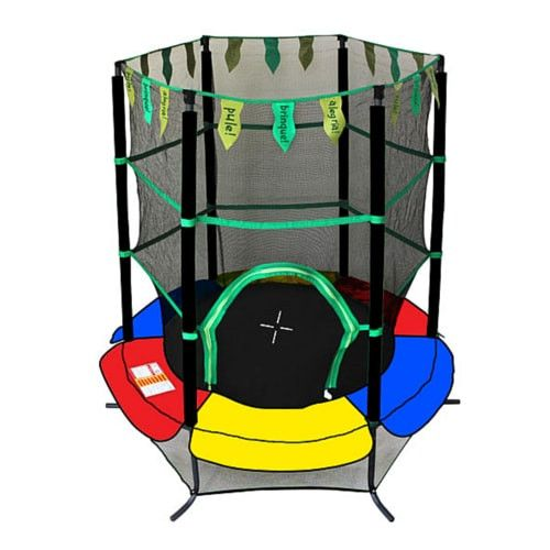 Fresh Exacme inch Toddler Trampoline for Kids with Safety Enclosure Net