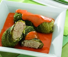 Recept Plněná kapusta s rajskou omáčkou od Vorwerk vývoj receptů - Recept z kategorie Hlavní jídla - maso