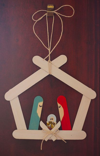 DIY: Nativity Popsicle Sticks Ideas by ohhthat.blogspot.com