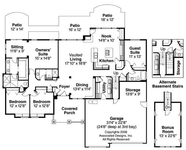 21 best images about 4 bedroom house plans on pinterest for Affordable 4 bedroom house plans