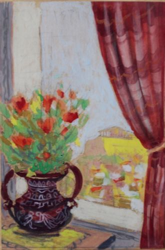 View-from-the-window-of-the-Acropolis-greek-acrylic-painting